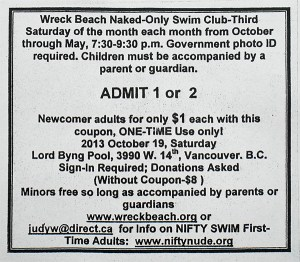 Wreck Beach Swim coupon