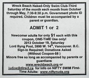 Wreck Beach Swim coupon