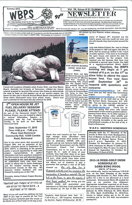 91st-Wreck Beach Newsletter