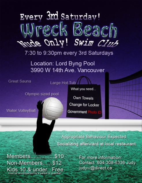 Wreck Beach swim-poster