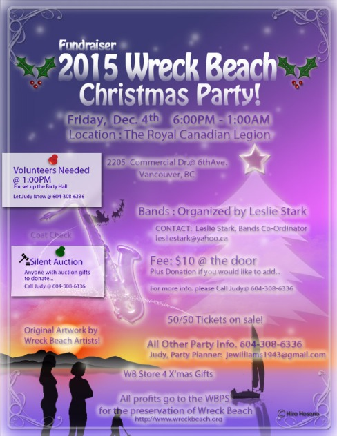 Wreck Beach Christmas Party 2015